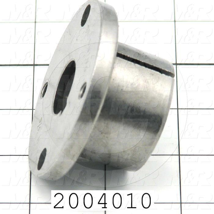 "Bushings, Split Taper H Type, 0.75"" Bore Size, 1/8""x1/16"" Keyseat, 2.50 in. Outside Diameter, 1.25"" Height, Steel Material"