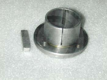 "Bushings, Split Taper H Type, 1.38"" Bore Size, 5/16""x3/32"" Keyseat, 2.50 in. Outside Diameter, 1.25"" Height, Steel Material"