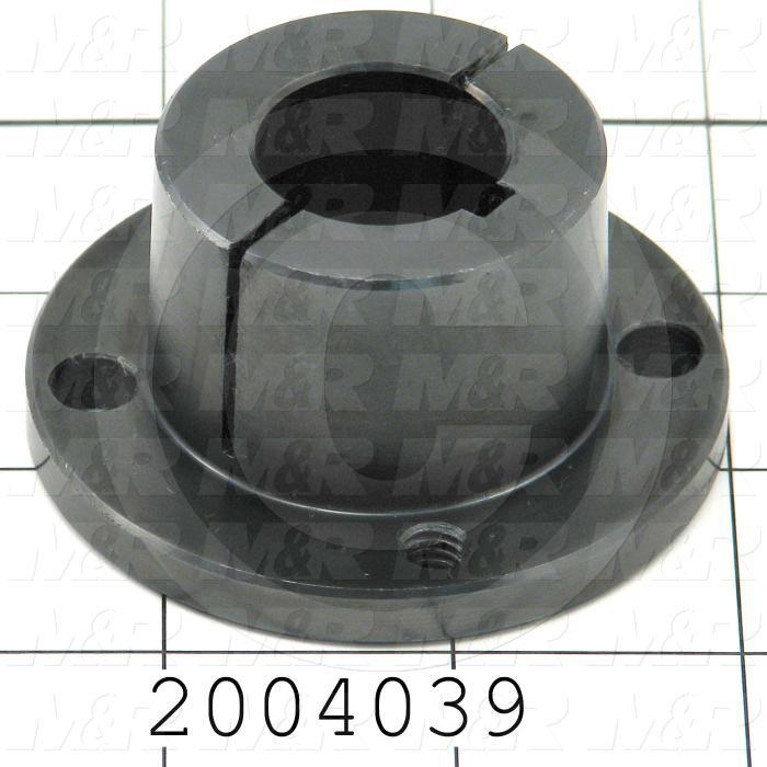 "Bushings, Split Taper H Type, 7/8 in. Bore Size, 3/16""x3/32"" Keyseat, 2.50 in. Outside Diameter, 1.25"" Height, Steel Material"