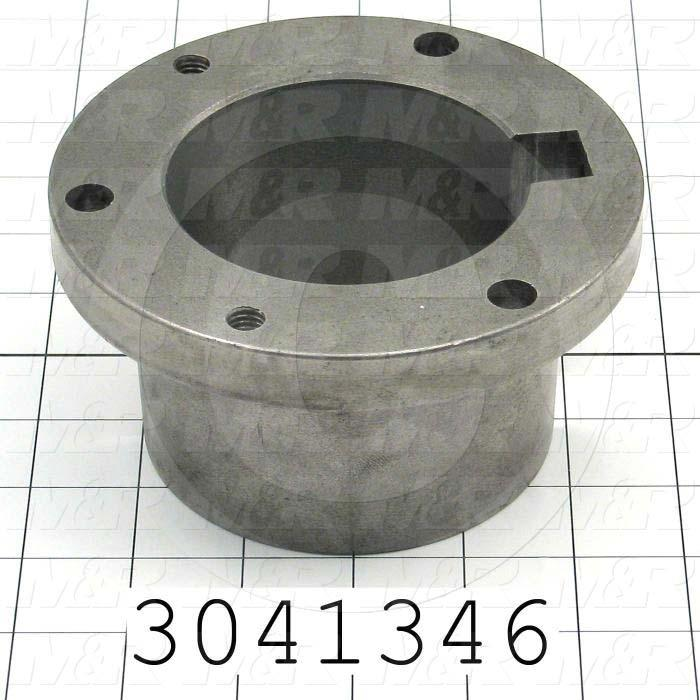 "Bushings, Split Taper R-1 Type, 3.25"" Bore Size, 7/8""x7/16"" Keyseat, 5.380"" Outside Diameter, 2.88"" Height, Steel Material"