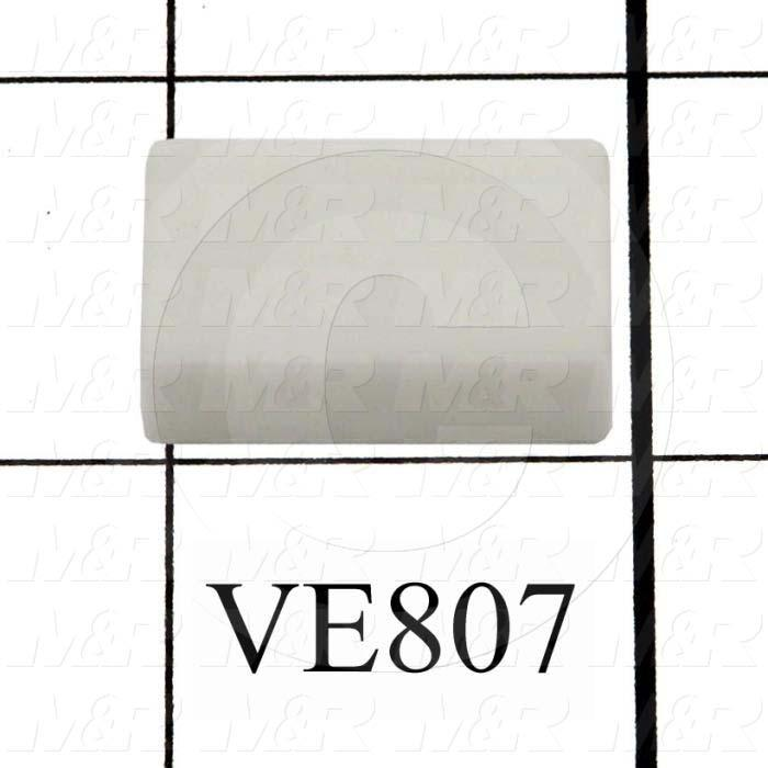 Button, Rectangular, White, Use For Pushbutton AML51 Series