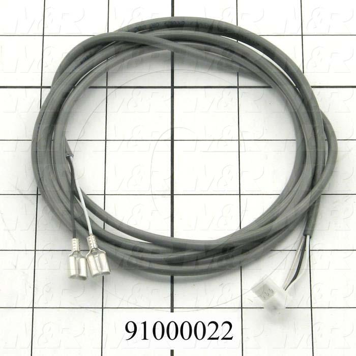 "Cable Assembly, Control Cable, 74"", 3 Conductors, 24AWG, 3-Pin MTA Connector, MAIN BOARD"