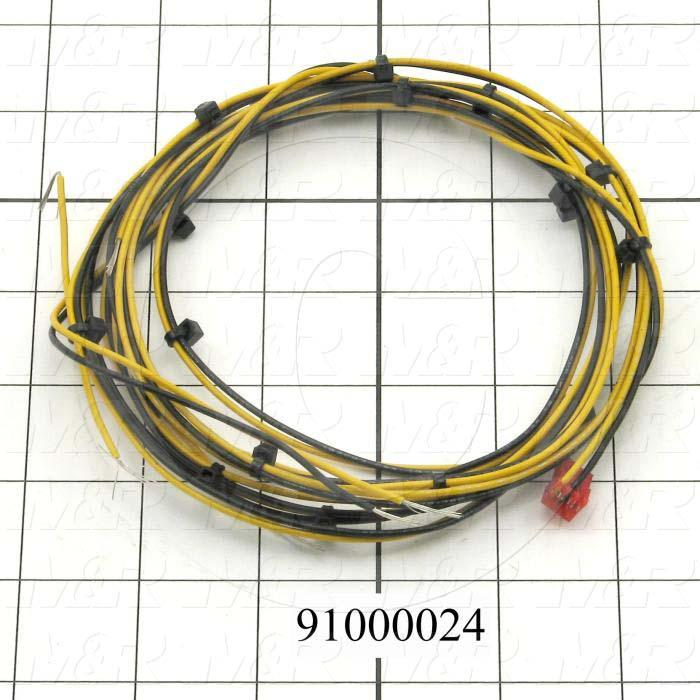Cable Assembly, Door Interlock, 112.00', 2 Conductors, 22AWG, 3-Pin Tyco/Amp Connector, MAIN BOARD, Used On Tri-Lit's