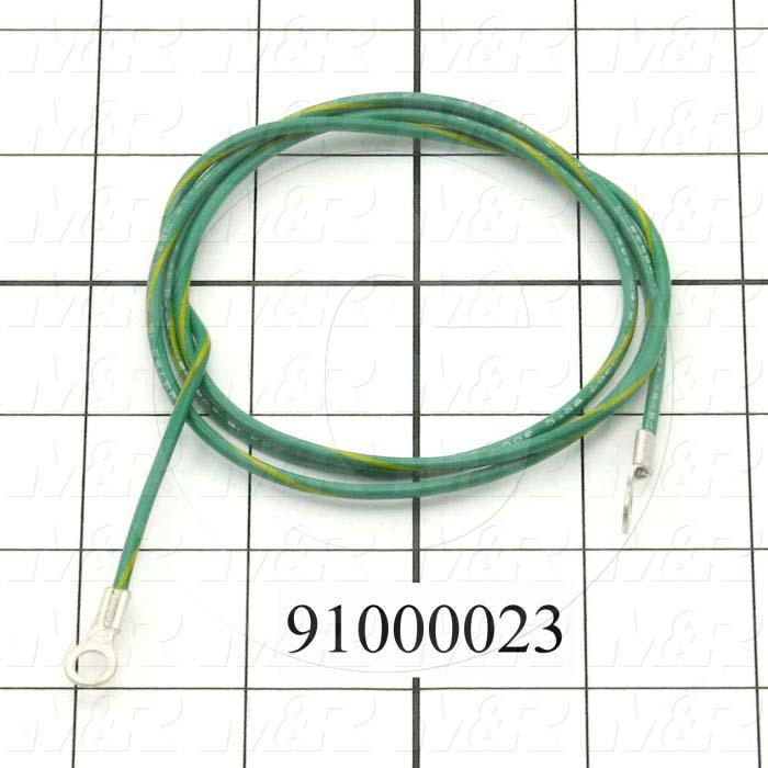 "Cable Assembly, Ground Cable, 40"", 1 Conductors, 16AWG, PWC, MAIN BOARD, Ring Terminal"