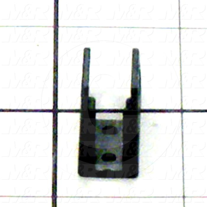 "Cable Carriers & Accessories, Bracket, 0.47"" Width, One Set-W/bore & W/Pin, Plastic Material"