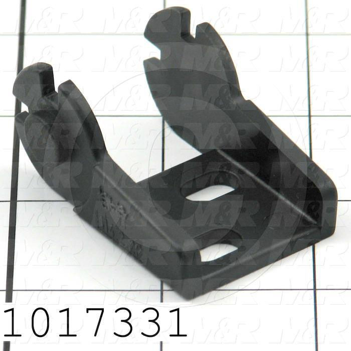 Cable Carriers & Accessories, Bracket, 1.44 in. Width, One Piece Bracket W/Pin, Plastic Material