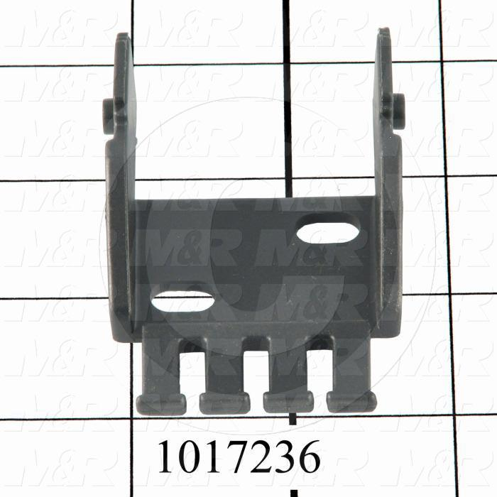"Cable Carriers & Accessories, Bracket, 1.82"" Width, One Piece Bracket W/Pin & Tiewrap Plate, Plastic Material"