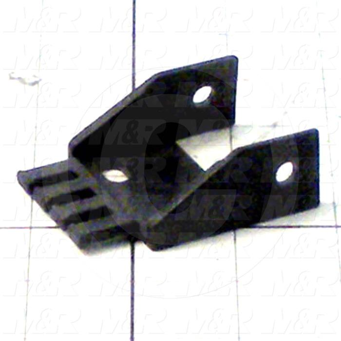 "Cable Carriers & Accessories, Bracket, 1.95"" Width, One Piece Bracket W/Hole & Tiewrap Plate, Plastic Material"