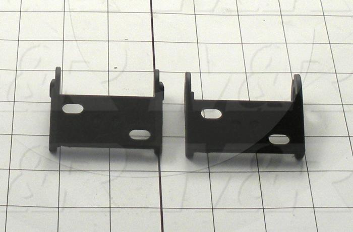 Cable Carriers & Accessories, Bracket, 2.38 in. Width, One Set-W/bore & W/Pin, Plastic Material