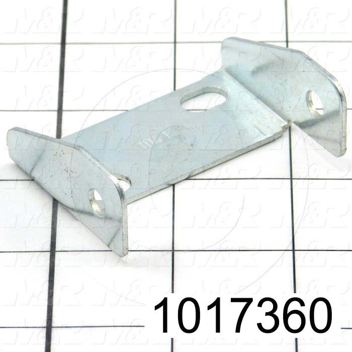 """Cable Carriers & Accessories, Bracket, Zinc Finish, 2.31"""" Width, One Piece Bracket W/Hole, Steel Material"""