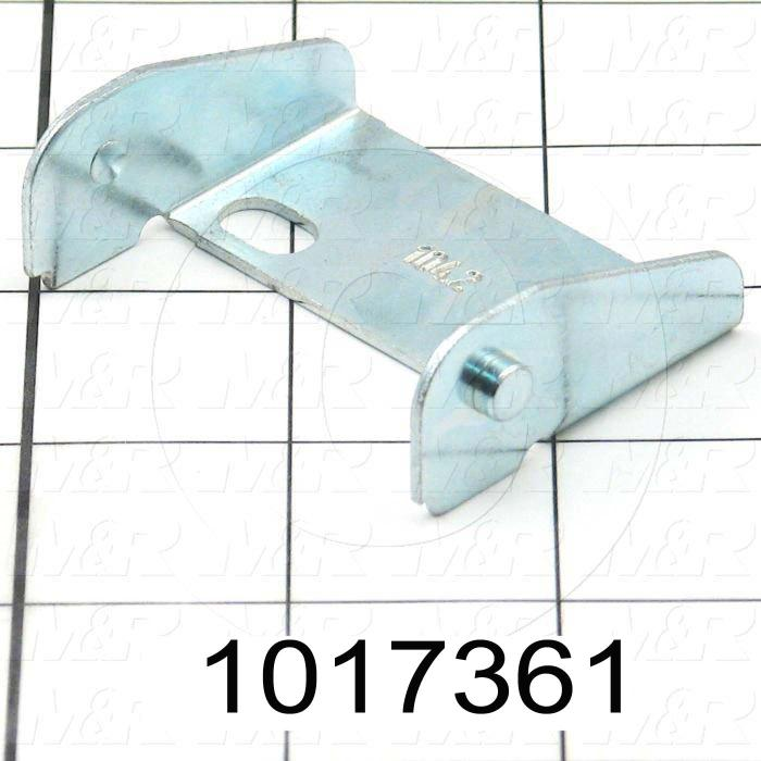 """Cable Carriers & Accessories, Bracket, Zinc Finish, 2.31"""" Width, One Piece Bracket W/Pin, Steel Material"""