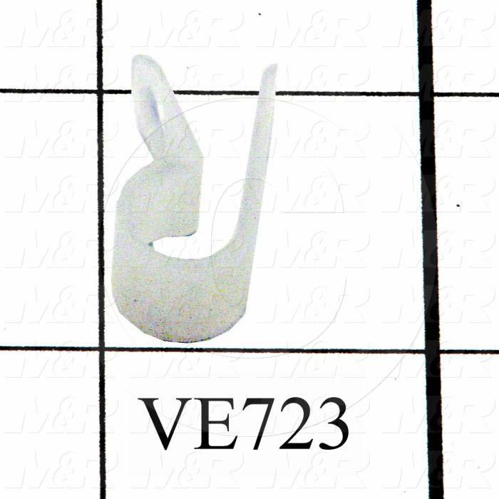 """Cable Clamp, Use For PULSE GENERATOR, White, 5/16"""" Inside Diameter"""