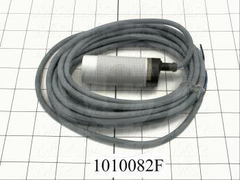 Capacitive Proximity Switch, Round, 30mm Diameter, 25mm Sensing Range, 4 Wire NPN, 5m Cable, 10mA