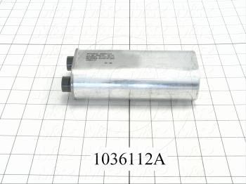 Capacitor, 1.2MFD, 2500VAC, 4-blade Quick-connect Insulated Terminals, with Internal Resistor