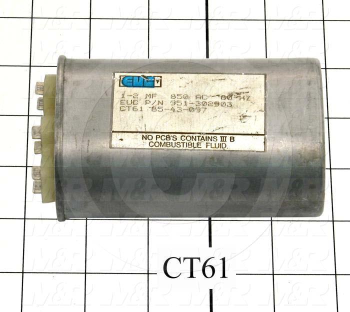 Capacitor, 1-2MFD, 850VAC