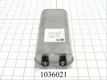 Capacitor, 1.4MFD, 3000VAC, 4-blade Quick-connect Insulated Terminals