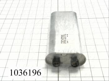 Capacitor, 1.4MFD, 3000VAC, 4-blade Quick-connect Insulated Terminals, with Internal Resistor