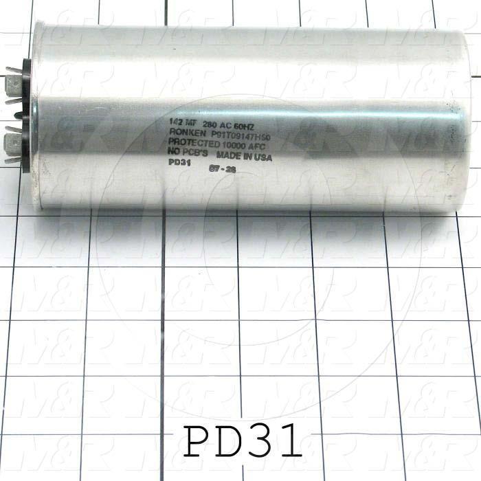 Capacitor, 142MFD, 280V