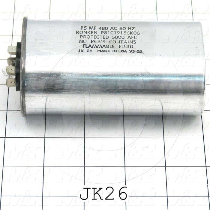 Capacitor, 15MFD, 480VAC