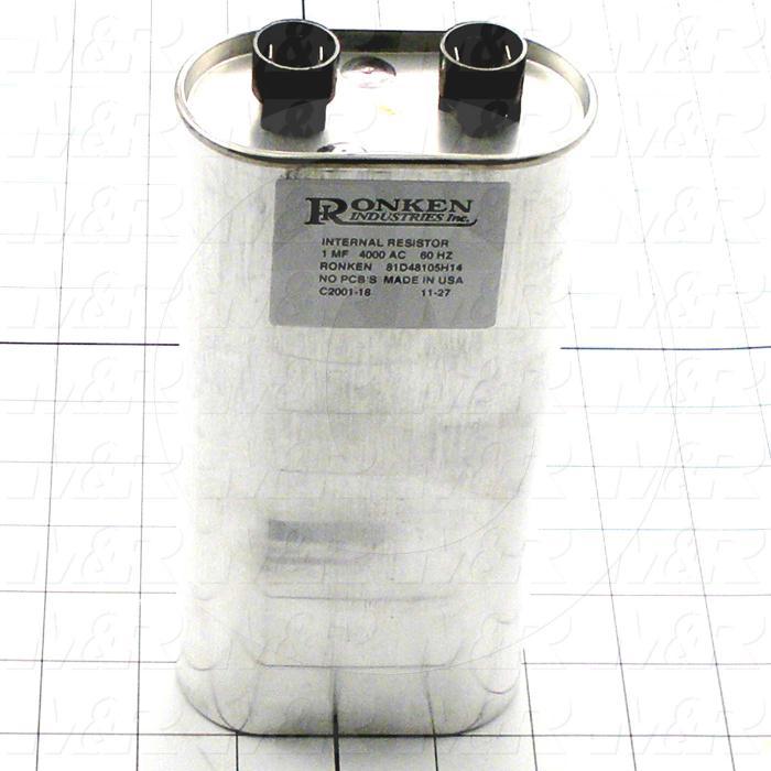 Capacitor, 1MFD, 4000VAC