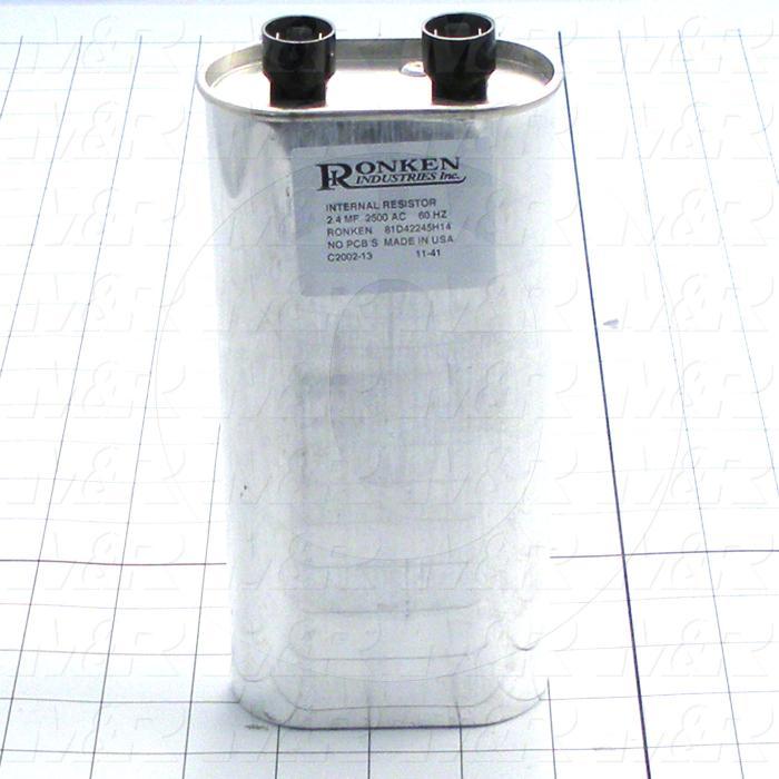 Capacitor, 2.4MFD, 2500VAC