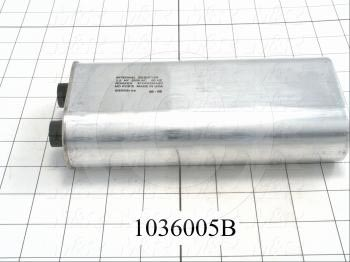 Capacitor, 2.8MFD, 2500VAC, 4-blade Quick-connect Insulated Terminals, with Internal Resistor