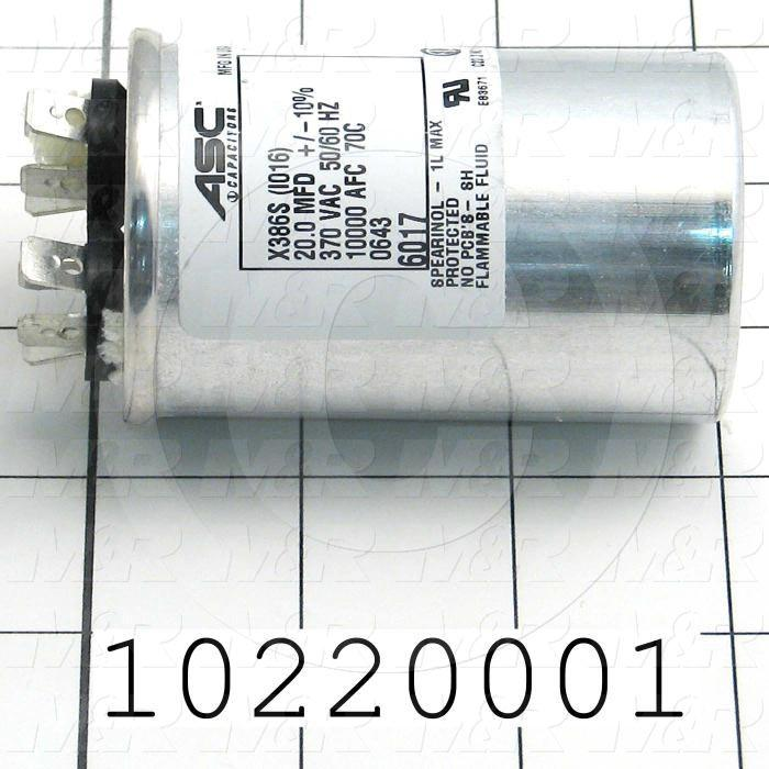 Capacitor, 20MF, 370VAC