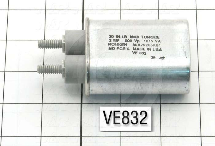 Capacitor, 2MFD, 600VAC