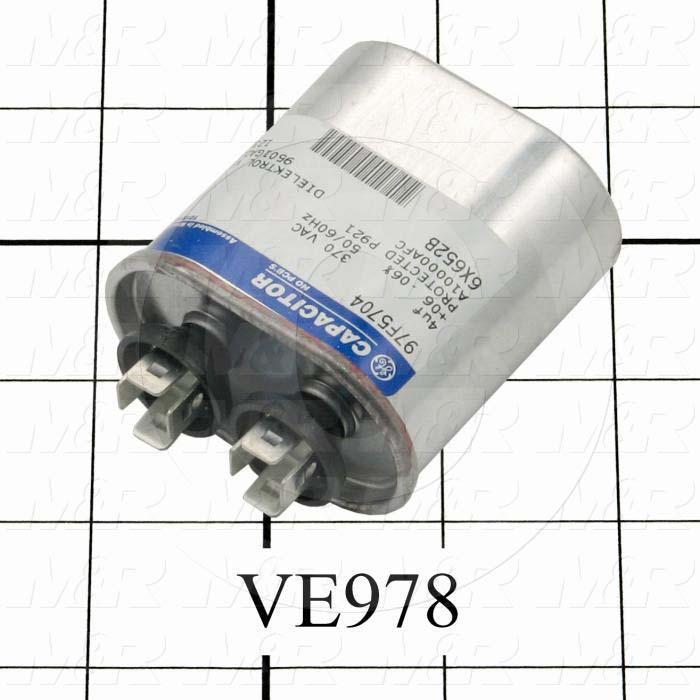 Capacitor, 4MFD, 370VAC