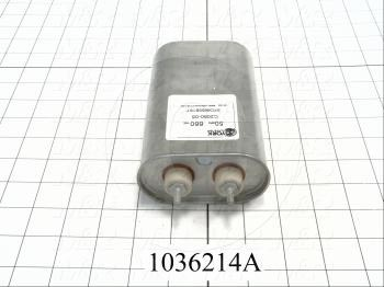 Capacitor, 50MFD, 660VAC, Screw Terminals