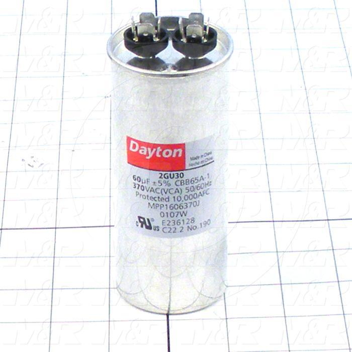 Capacitor, 60MFD, 370VAC