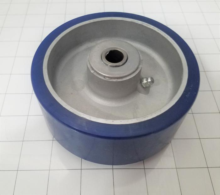 Casters and Wheels, Axle Mounting, 5.00 in. Wheel Diameter, Rubber Wheel Material