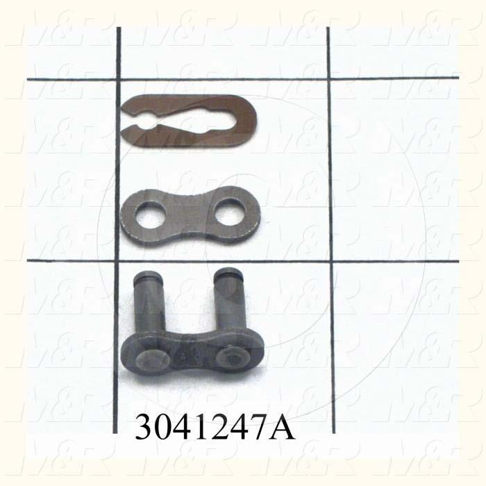 Chain Accessories, Connecting Link CON, ANSI 35 Chain Standard, Single Strand, Steel Material