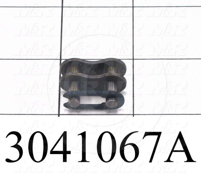 Chain Accessories, Connecting Link SF, ANSI 40 Chain Standard, Single Strand, Steel Material