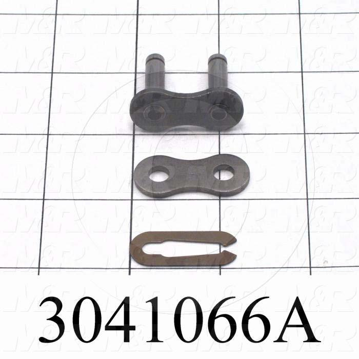Chain Accessories, Connecting Link SF, ANSI 60 Chain Standard, Single Strand, Steel Material