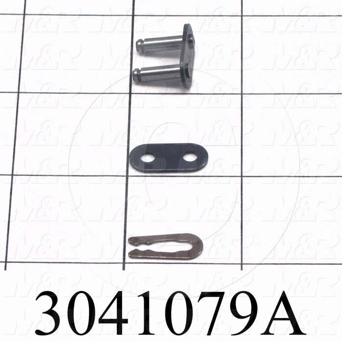 Chain Accessories, Connecting Link SF, ISO 06B Metric 35 Chain Standard, Single Strand, Steel Material