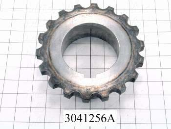 Chain Type Coupling, Hub # 1 Outer Diameter 5.25, Bore Type Split Taper  R1 Bushing, Overall Length 2.63, Note Half Coupling, works with 3041256,3041256A - Details