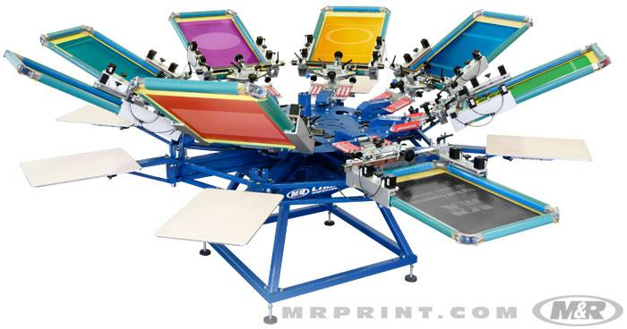 Manual Textile Presses :: Textile Screen Printing Equipment
