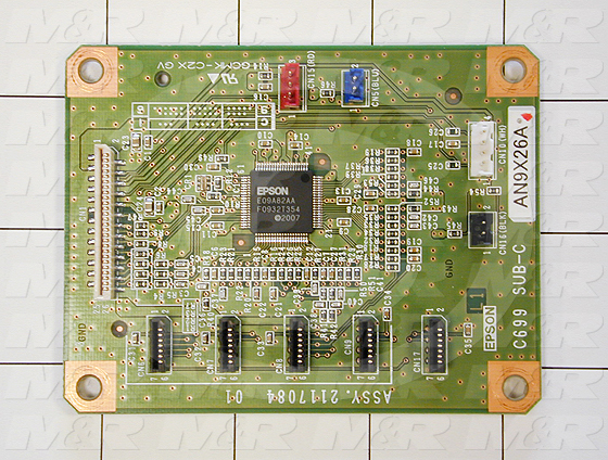 Circuit Board, Board Assembly Sub - Left Side, Chip Board Slots 1-4, For Printer 9800