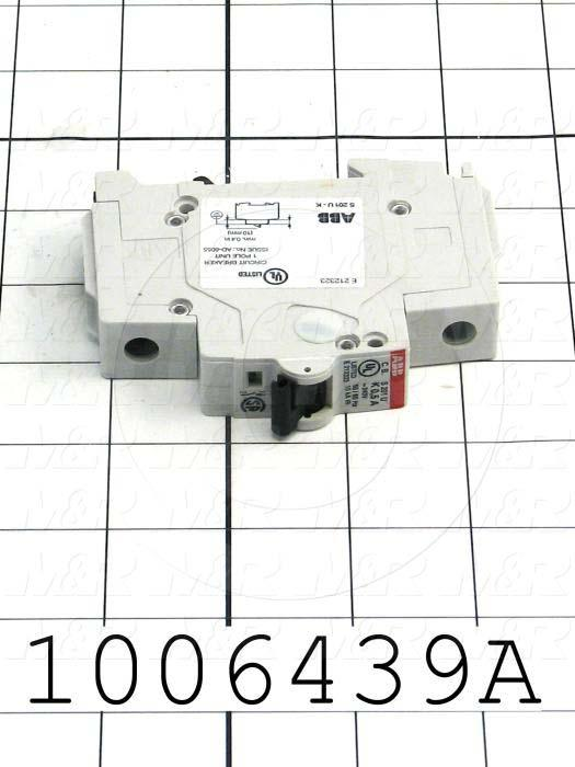 Circuit Breaker, 1 Pole, 0.5A, 240VAC, K Curve, UL 489 Listed