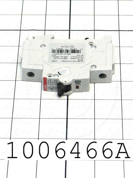 Circuit Breaker, 1 Pole, 1.6A, 240VAC, K Curve, UL 489 Listed