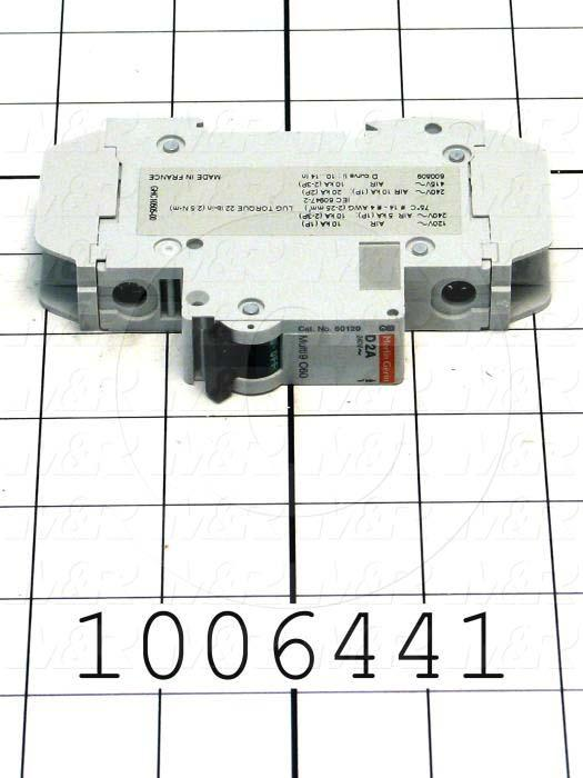 Circuit Breaker, 1 Pole, 2A, 240VAC, D Curve, UL 489 Listed