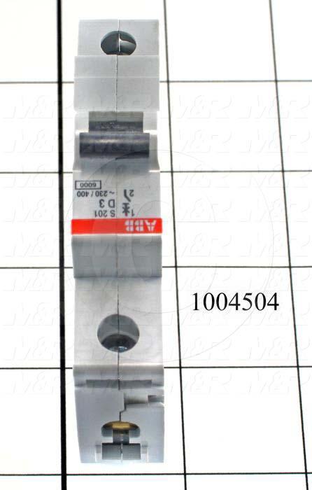 Circuit Breaker, 1 Pole, 3A, 240VAC, D Curve