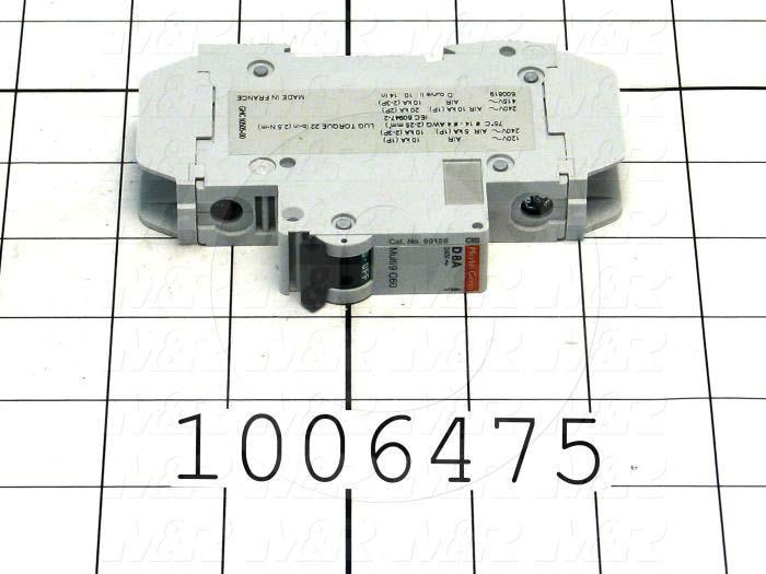Circuit Breaker, 1 Pole, 8A, 240VAC, D Curve, UL 489 Listed