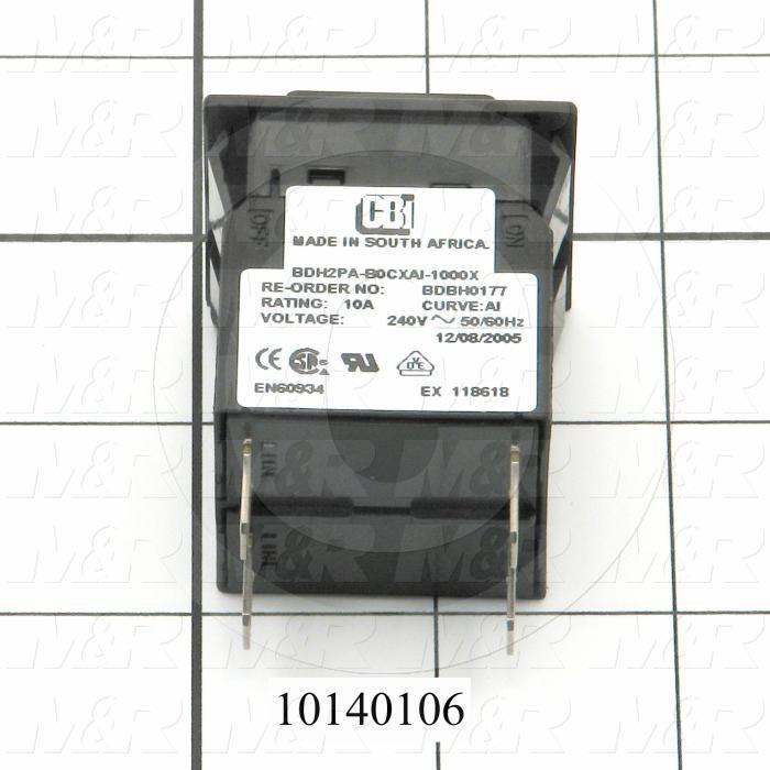 Circuit Breaker, 10A, 120/240VAC, Slow Trip
