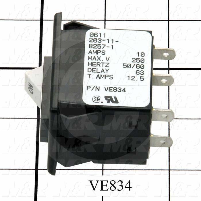 Circuit Breaker, 10A, 250VAC