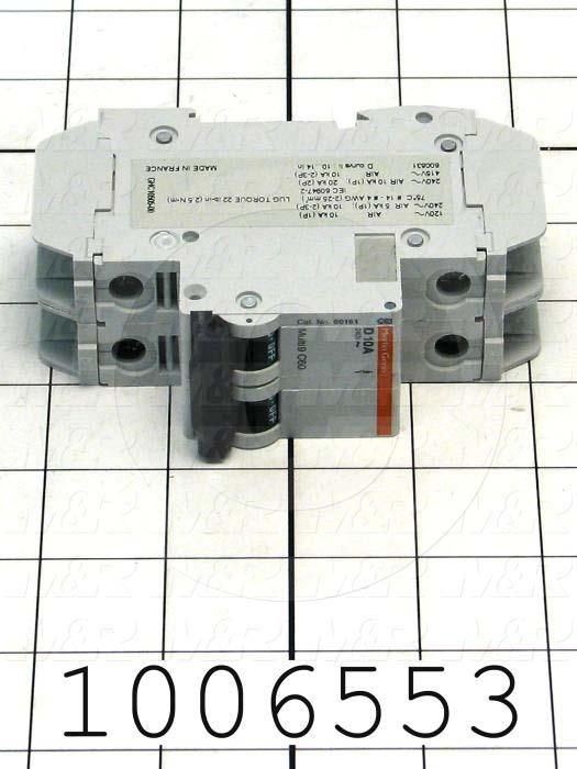 Circuit Breaker, 2 Poles, 10A, 240VAC, D Curve, UL 489 Listed