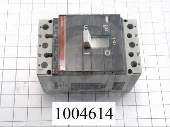 Circuit Breaker, 2 Poles, 125A, 480VAC