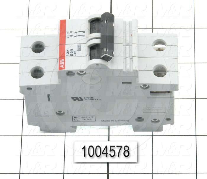 Circuit Breaker, 2 Poles, 1A, 240VAC, D Curve