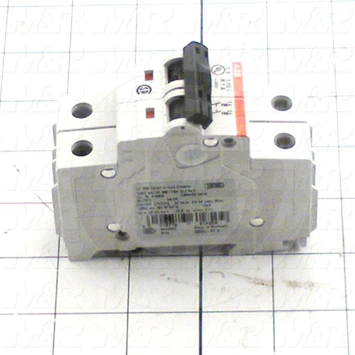 Circuit Breaker, 2 Poles, 1A, 240VAC, K Curve, UL 489 Listed